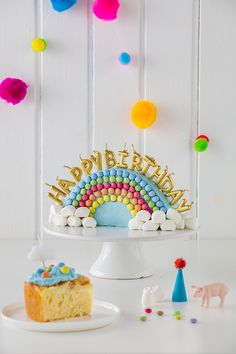 Rainbow cake for kids birthday - Regenbogenliebe - Kuchen Food Cakes, Tea Cakes, First Birthday Cakes, Birthday Parties, Easy Kids Birthday Cakes, Rainbow Layer Cakes, Cake Rainbow, Pumpkin Spice Cupcakes, Rainbow Birthday