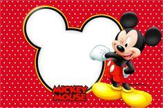 Convite, Moldura e Cartão Mickey: