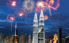 KLCC Kuala Lumpur, Cn Tower, Fireworks, Skyscrapers, City, Building, Travel, House, Ideas