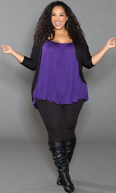 #plussize #plus #size #plussize #plus_size #curvy #fashion #clothes Shop www.curvaliciousclothes.com SAVE 15% Use code: SVE15 at checkout Pretty Cami in Purple Your essential camisole with tummy-concealing style!