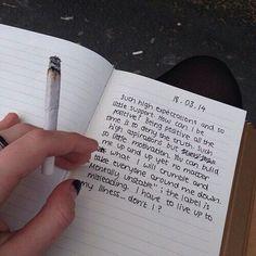cigarette, sad, and grunge image