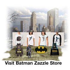 Batman™: Official Merchandise at Zazzle Types Of T Shirts, Funny Tshirts, Batman, Take That, City, Unique, Polyvore, Collection, Store