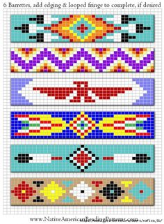 Free Native American Beadwork Patterns, but i will try it as a crochet pattern ^^ Indian Beadwork, Native Beadwork, Native American Beadwork, Native American Headdress, Beading Patterns Free, Seed Bead Patterns, Beaded Jewelry Patterns, Beading Ideas, Beading Supplies