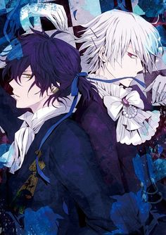 Pandora Hearts: Gil and Break  (storyline is a little confusing, but SOOO good, LOVE their drawing style!!!) Good both in anime and manga form.