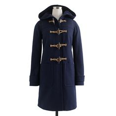 Toggle coat in wool-cashmere with Thinsulate®