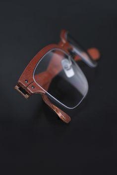 Lucas de Staël /Minotaure Half Rim / Genuine cow leather / Handmade eyewear in Paris. http://www.lucasdestael.com/minotaure-half-rim