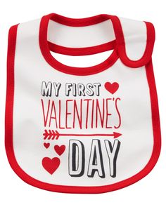 c7538d0bd464 Celebrate baby s first Valentine s Day with this teething bib