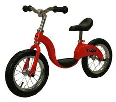 Red Kazam Balance Bike by KaZAM. $99.95. Kazam provides an alternative way to learn to ride a peddled bicycle based on the concept of balance first, pedal last. It is a training bicycle that assists children ages 3-6 to balance, increase coordination and ultimately ride a traditional bicycle for the first time with confidence. This customized toddler bicycle has the steering and balancing challenges of a traditional bicycle but it has no pedals, chain or training wheels. It is...