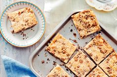 Serve this gorgeously rich and crumbly slice with afternoon tea.