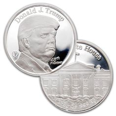 These privately minted 1 oz Silver Donald Trump Rounds (Trump silver coin) are pure silver bullion…. Bullion Coins, Silver Bullion, Silver Coins For Sale, Silver Investing, Donald Trump Supporters, Silver Prices, Silver Bars, Silver Dollar, Coin Collecting