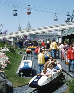 Vintage Disneyland: Matterhorn bobsled & Skyway 1959
