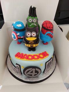Minion superhero cake
