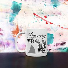 This Shark Week mug that will help you take on the day.