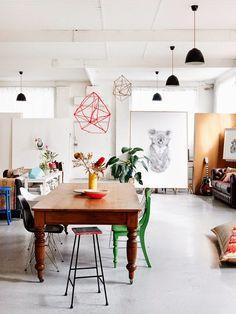 La petite fabrique de rêves: Melbourne : un loft arty, lumineux et chaleureux ...