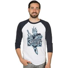 Show your allegiance to the greatest team of our generation: the Icecrown Scourge.  Team captain Arthas is a 12 time all star, 6 time MVP, and the former Lich King; commanding a legion of undead minions. Not bad for such a short career.