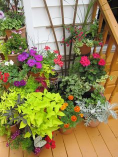 Container gardening lets you mix and match until you get the look you want.