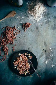 Homemade Spelt Beetroot Pasta | (Souvlaki For The Soul)