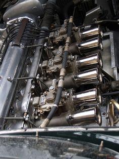 Jaguar Type D Engine with a Line of Webber's | Flickr - Photo Sharing!