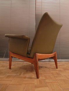 Rosewood and Leather 'Interline' Lounge Chair for France & Son, Danish Modern Furniture, Modern Chairs, Love Chair, Lounge Chair Design, Buy Furniture Online, Hans Wegner, Sofa Seats, Mid Century Decor, Danish Design