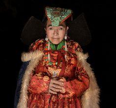 Ladakhi woman with traditional dress, , Lamayuru | by magbrinik