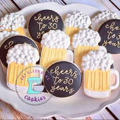 Meal for Booze Bread on earth!, there are many recipes forbeer fresh bread around, but none as straightforward (and engaging! Birthday Cake Cookies, 30th Birthday Cakes For Men, Beer Birthday Party, 30th Birthday Parties, 30th Birthday Ideas For Men Surprise, Beer Cookies, Fun Cookies, Sugar Cookies, Hannukah Cookies