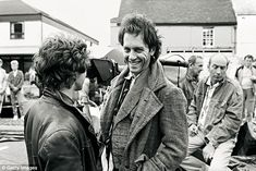 Richard E Grant with Paul McGann on the set of Withnail & I in 1987
