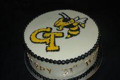 Yum Scrum Cakes Georgia Tech Birthday Cake 30th