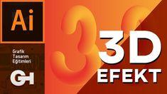 Vektörel 3D Efekt Nasıl Oluşturul ? | Adobe İllustrator CC Adobe Illustrator