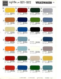 68 Vw transporter original colors - Google-haku