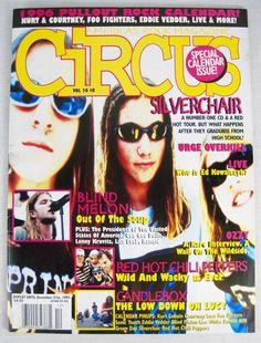 Circus Music Magazine November 1995 Silverchair Kurt Cobain Nirvana CIV Live New