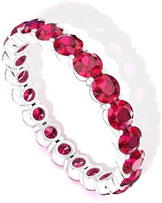 Eternity ring is an ultimate romantic gift for your life partner. Eternity Rings, Eternity Ring Diamond, Gold Bangles For Women, Ruby Jewel, Ruby Gemstone, Love Gifts, Stone Jewelry, Wedding Bands, Unique Jewelry