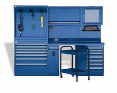 Automotive Technician Workcenter - this model includes a tool chest caddy for technician, motor, etc.