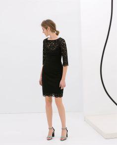 LONG SLEEVE LACE DRESS from Zara