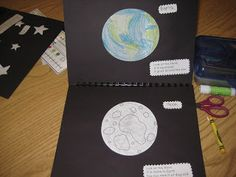 Space Book Craftivity - This is a craftivity that focuses on nonfiction facts about the earth, moon, stars, sun, and astronauts.