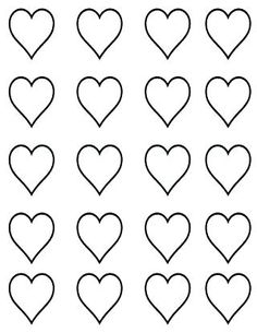 Template for heart shaped macarons Piping Templates, Royal Icing Templates, Royal Icing Transfers, Cake Templates, Heart Shapes Template, Printable Heart Template, Free Printable, Royal Icing Decorations, Chocolate Decorations