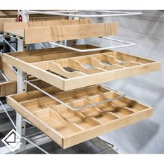 "We have all sorts of options we can custom build into your cabinet drawers for you, to make organization simpler and kitchen storage smarter. These custom-built cutlery drawers, for example, will be a valuable asset to their owner, as they honour the old adage ""a place for everything and everything it its place"". ⠀ ⠀ A lot of our clients opt to include a two-tier cutlery tray in their kitchen - do you have one in yours?"