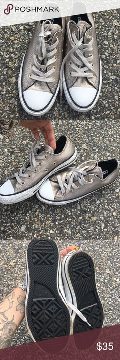 Metallic Converse Flawless. Size 5 Converse Shoes Sneakers