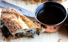 Williamson Wines : Elate Grange Cuvee with Roasted Portabella and eggplant french dip