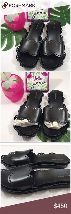 SIMONE ROCHA scalloped trim slides! NWOT Sold out Simone Rocha scalloped trim slides. Comfort heel 3/4-11/2, made in Italy US size 9 Euro 39. High end fashion!. No box  or dust bag will package with Simone Rocha love. Please don't hesitate to offer- Simone Rocha Shoes Sandals