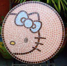TAMPO EM MOSAICO PARA O CAFÉ DA HELLO KITTY NO BOURBON SHOPPING by ALÉM DA RUA ATELIER/Veronica Kraemer, via Flickr