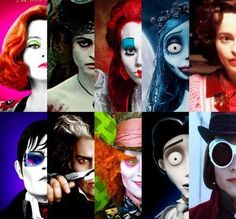 Helena Bonham Carter and Johnny Depp. I never realized that she was married to Tim Burton before a few months ago!