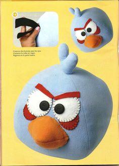 Angry birds com passo a passo e molde