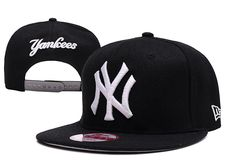 New Era MLB New York Yankees Snapback Hats Caps Black 3743! Only $7.90USD