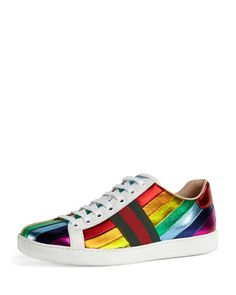 b838457739b5 Gucci Garden Exclusive Ace Sneaker (2.400 RON) ❤ liked on Polyvore  featuring shoes