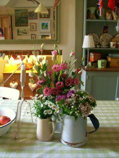 Flowers on my table www.lavenderhousevintage.co.uk
