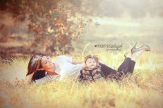 Mommy and baby girl Fall photo