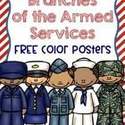 Enjoy these FREE posters which show some of the uniforms from each branch of the armed services. These are a nice supplement to a Veterans Day or M...