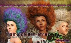 Sims 3 hair, afro, braided, hairstyle
