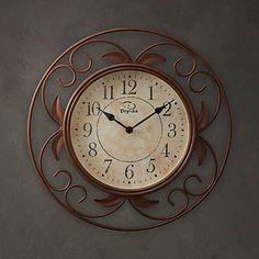 "14""H Classic Metal Wall Clock – USD $ 59.99"