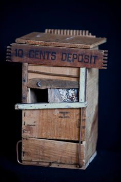 Bird house made of recycled antique wood by nathanfriedlipski, $180.00     *You have got to be kidding $180.00?*